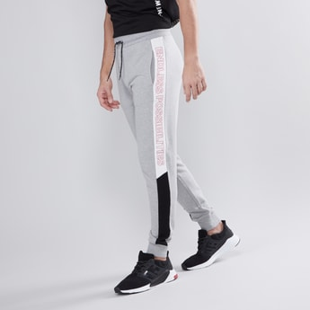 Slim Fit Full Length Printed Mid Waist Jog Pants with Pocket Detail