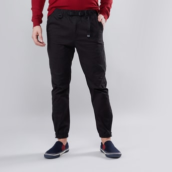 Plain Jog Pants with Elasticised Waistband and Drawstring