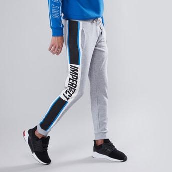 Slim Fit Printed Mid Waist Jog Pants with Elasticised Waistband