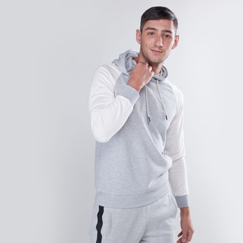 Slim Fit Plain Hoodie with Long Sleeves