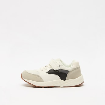 Textured Slip On Sports Shoes with Hook and Loop Closure