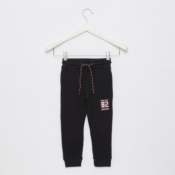 Textured Full Length Jogger with Drawstring Closure