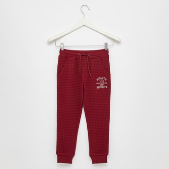 Quilted Jog Pants with Pockets and Drawstring