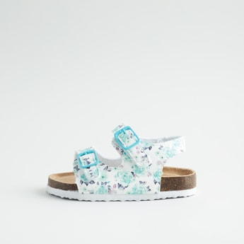 Printed Loafers with Hook and Loop Closure