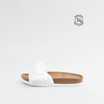 Textured Slides with Knot Detail Straps