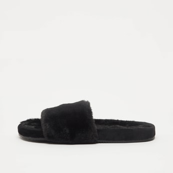 Textured Slip On Bedroom Slippers