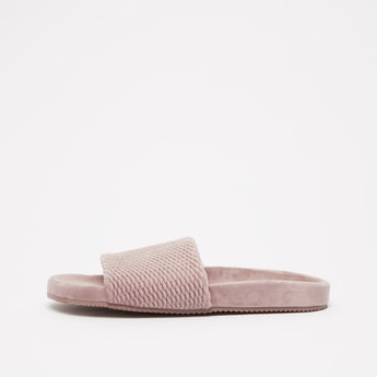 Textured Slip-On Bedroom Slides
