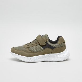 Lace-Up Sports Shoes with Hook and Loop Closure