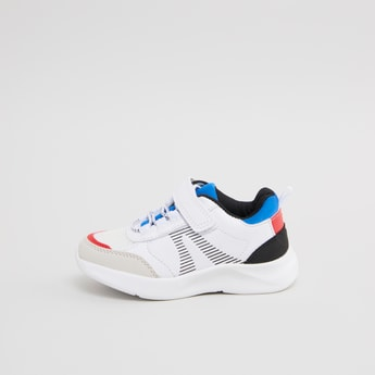 Stitch Detail Sports Shoes with Hook and Loop Closure