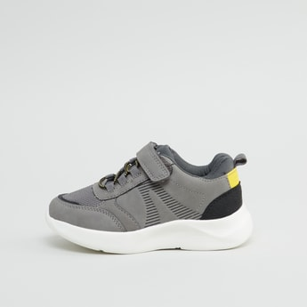 Low Top Sneakers with Hook and Loop Closure