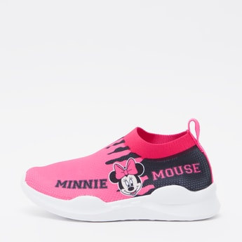 Minnie Mouse Print Slip On Sneakers