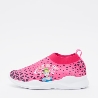 Cinderella Print Sports Shoes with Pull Tab