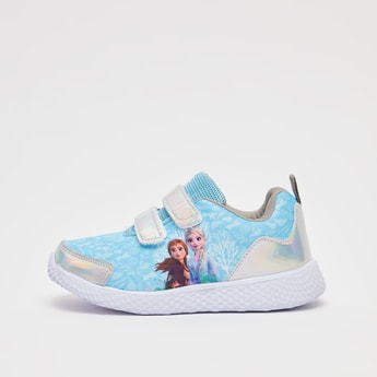 Frozen Print Sports Shoes with Hook and Loop Closure