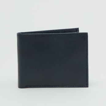 محفظة سادة بطيّة مزدوجة وجيوب متعددة للبطاقات