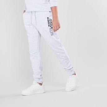 Printed Joggers with Pocket Detail and Drawstring Closure