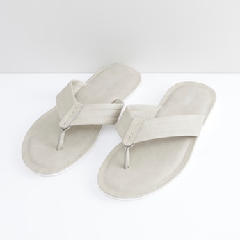 Slip-On Slides with Stitch Detail