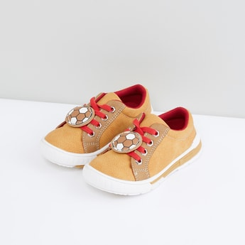 Applique Detail Lace-Up Shoes