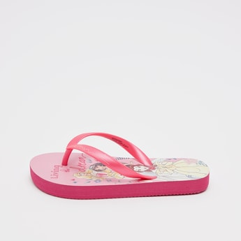 Princess Print Flop Flops with Textured Straps