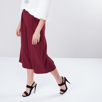 Elasticised Waistband Culottes in Regular Fit