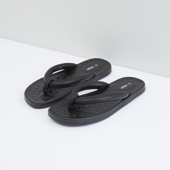 Textured Flip Flops with Embossed Footbed
