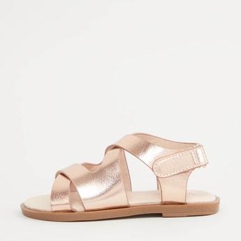 Strappy Textured Sandals