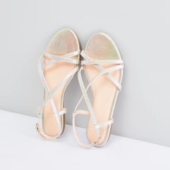 Multi-Strap Sandals with Pin Buckle Closure
