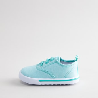 Panelled Low Top Canvas Shoes