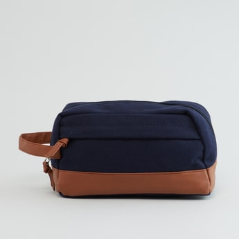 Textured Pouch with Zip Closure and Handle