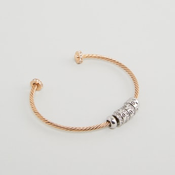 Ring Accented Cuff Bangle