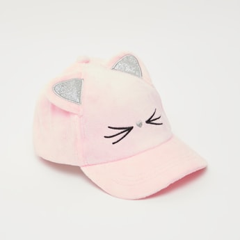 Embroidered Cap with Applique Detail
