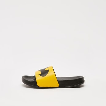 Batman Print Slides and Textured Footbed
