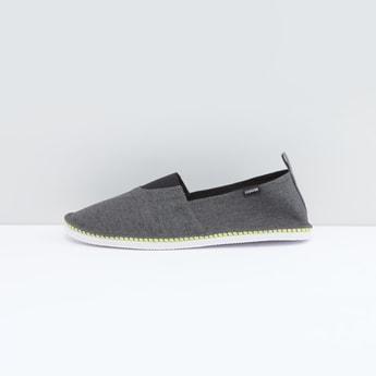Textured Canvas Shoes with Slip-On Closure