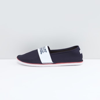 Printed Canvas Shoes with Slip-On Closure