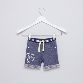 Printed Pocket Detail Shorts