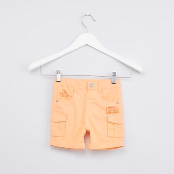 Embroidered Shorts with Pocket Detail