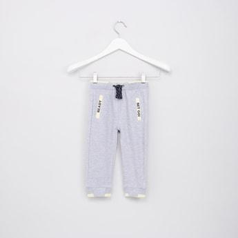 Textured Jog Pants with Drawstring