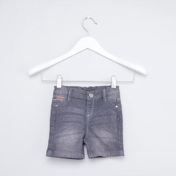 Denim Shorts with Pocket Detail