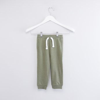 Solid Jogger Pants with Drawstring Closure
