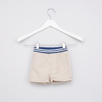 Pocket Detail Shorts with Striped Waistband