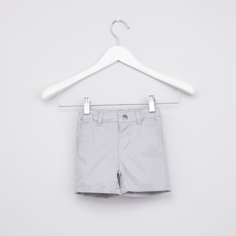 Pocket Detail Shorts with Belt Loops
