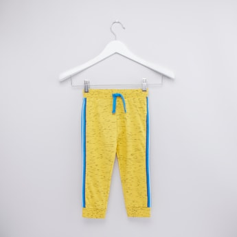 Textured Jog Pants with Elasticated Drawstring Waist