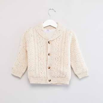 Nep Fur-Lined Button Through Cardigan