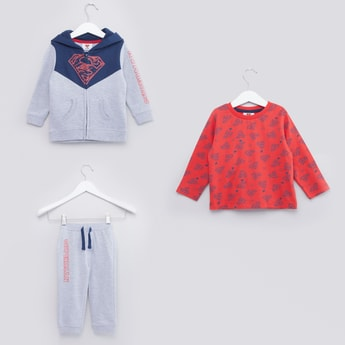 Superman Printed 3-Piece Clothing Set