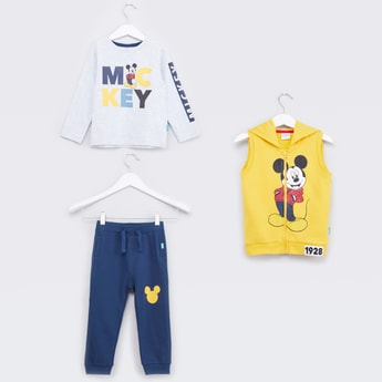 Mickey Mouse Printed 3-Piece Apparel Set