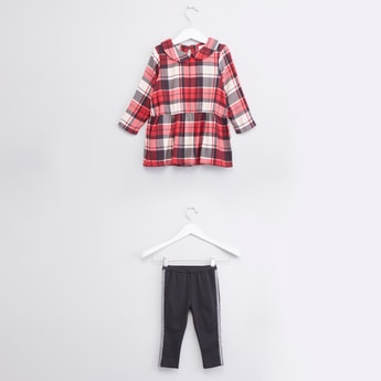 Chequered Tunic and Leggings Set