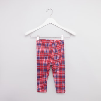 Checked Leggings with Elasticated Waistband