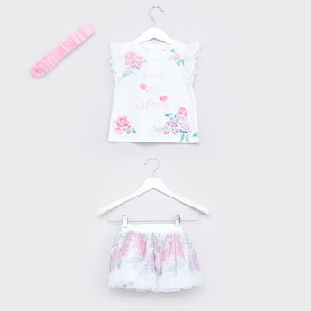 Floral Printed 3-Piece Clothing Set