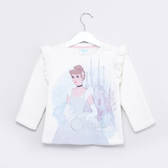 Cinderella Printed Sweatshirt with Long Sleeves