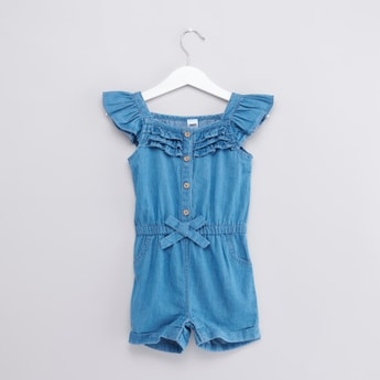 Ruffle Detail Playsuit with Cap Sleeves