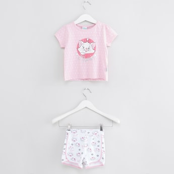 Marie Printed T-shirt and Shorts Set